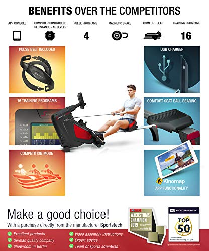RSX500-rowing-machine-with-smartphone-control-fitness-app-12-rowing-programs-16-resistance-levels-competition-mode-pulse-belt-in-value-of-2990-included-foldable-with-Kinomap