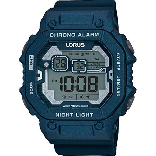 Lorus Mens Digital Watch with Silicone Strap R2399KX9