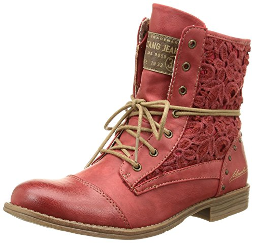 Mustang 1157527, Bottes Classiques Femme, Grau (Ice 203) Rouge (5 Rot)