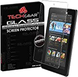 """TECHGEAR® Amazon Fire 7"""" Tablet (2015 Edition / 5th Gen) GLASS Edition Genuine Tempered Glass Screen Protector Guard Cover"""