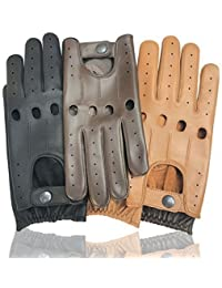 Mens Classic Genuine Cow Nappa Leather Driving Slim Fit Fashion Gloves Pair 510