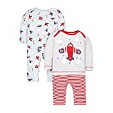 Mothercare Baby Boys Planes - 2 Pack Bodyysuit, Multicoloured, 0-3 Months (Manufacturer Size: 62)