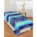 BSB Trendz Cotton Blue & Sky Blue Clour With Spider Net Single Bedsheet Without Pillow Cover GSM-150 To 180, TC-180 Size-90x60 Inches
