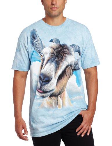 The Mountain Unisex Kinder Ziege Kopf T Shirt Blau