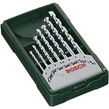 Bosch Mini X-line - Set de 7 brocas para piedra (Ø 3/4/5/5,5/6/7/8 mm)