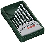 Bosch Home and Garden 2607019581 Bosch Mini X-Line-Set de 7 Brocas para Piedra (Ø 3/4/5/5,5/6/7/8 mm), Piezas