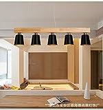 Ehime Die kreative Restaurant LED drei - Holz Kunst moderne, minimalistische Esstisch Esszimmer lampe Kronleuchter 100 * 22 cm Studie Protokolle