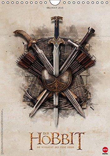 Der Hobbit: Die Schlacht der Fünf Heere (Wandkalender 2016 DIN A4 hoch): Ein Muss für alle Mittelerde-Fans! (Monatskalender, 14 Seiten) (Calvendo Kunst)