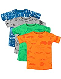 Luke and Lilly Baby-Boy's Regular fit T-Shirt (Pack of 4)