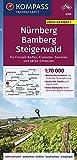 KOMPASS Fahrradkarte Nürnberg, Bamberg, Steigerwald 1:70.000, FK 3328: reiß- und wetterfest mit Extra Stadtplänen (KOMPASS-Fahrradkarten Deutschland, Band 3328)