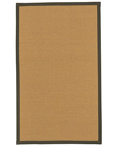 6 Moos Teppich (NaturalAreaRugs Chelsea Wolle/Sisal Bereich Teppich, moos, 2' 6