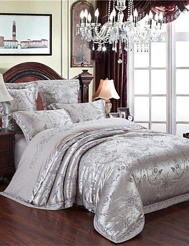 GAOHAIFQ®,la nueva cubierta lista gris ropa de cama de lujo edredón fijado...