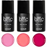 BMC 3pc Pink Colored Cream Speed Gel Lacquer Polishes - Pink Paradise Collection