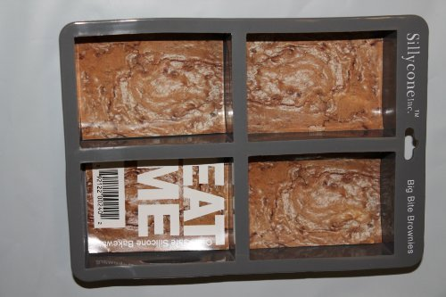 Sillycone Grau Silikon Groß Biss Brownie Tablett (Silikon-brownie-biss)