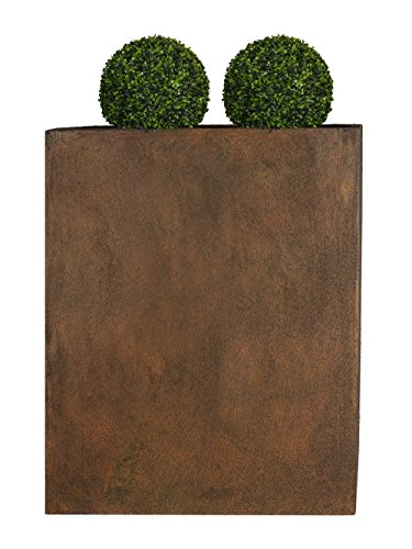 PFLANZWERK® Pflanzkübel Fiberglas DIVIDER Rost Braun 72x60x25cm XXL *Frostbeständig* *UV-Schutz* *Qualitätsware*