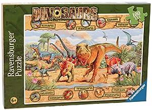 Ravensburger - Puzzle Dinosaurios de 100 piezas , Modelos/colores Surtidos, 1 Unidad