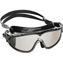 Cressi Skylight 180 Degrees View Anti Fog Premium Swim Goggles - Black/Grey/Mirrored Lens