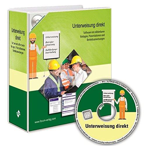Unterweisung direkt: Software mit editierbaren Vorlagen, einsatzfertigen Präsentationen und Betriebsanweisungen