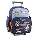 Cool Trolley Fox Co Hands Kinder-Rucksack, Marine blau/Orange/Weiß