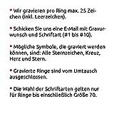 Juwelier Schönschmied - Zwei Freundschaftsringe Trauringe Partnerringe Kolita Edelstahl inkl. persönliche Wunschgravur 52-56 Nr132HH