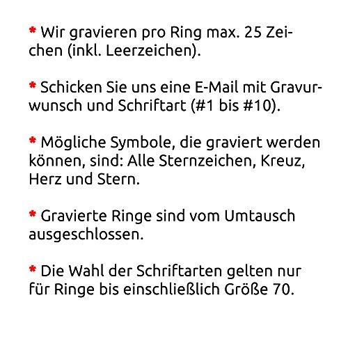 Juwelier Schönschmied - Zwei Freundschaftsringe Eheringe Partnerringe Kolita Edelstahl Zirkonia inkl. persönliche Wunschgravur 54-66 Nr132HD