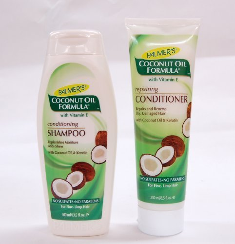 Palmers Coconut (Palmers Coconut Oil Formula Conditioning Shampoo 400Ml & Repairing Conditioner 250Ml Pack by Palmer's)