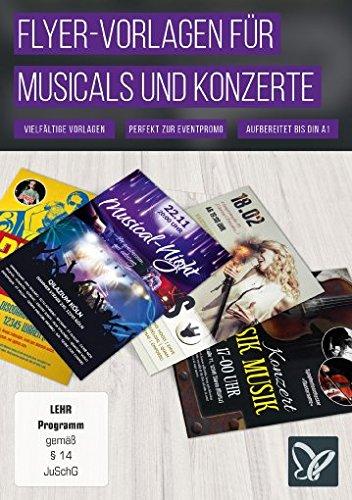 Flyer-Vorlagen für Musicals, Discos und Konzerte (Win+Mac+Tablet), gebraucht gebraucht kaufen  Wird an jeden Ort in Deutschland