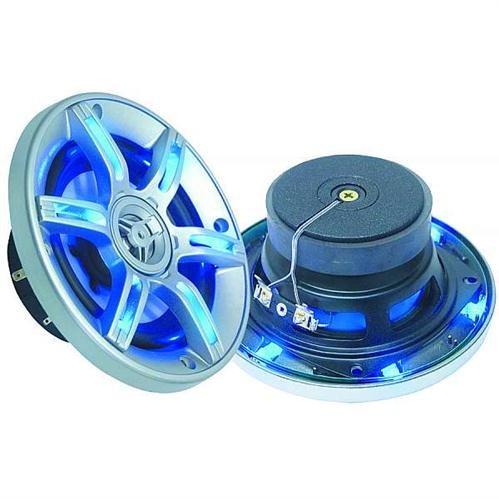 Xxl Led Sp509 2 Lautsprecher Koaxial Mit Led Blau 2 Wege 2 X 250 W