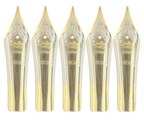Gullor 5PCS Los plumas de la pluma de caben la pluma de Jinhao 159/450/750, oro,...