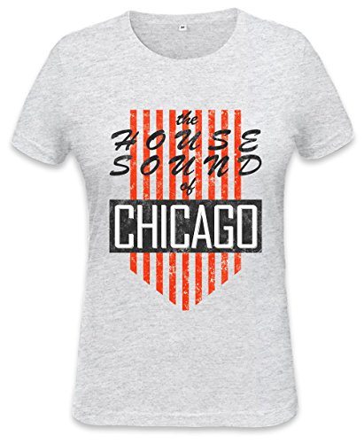 House Sound Of Chicago Retro Womens T-shirt XX-Large (T-shirt Retro Womens Chicago)