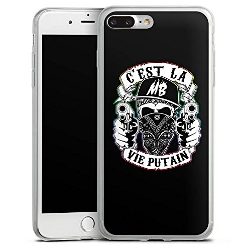 Apple iPhone X Slim Case Silikon Hülle Schutzhülle Montanablack Fanartikel Merchandise C'EST LA VIE PUTAIN Silikon Slim Case transparent