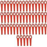 Xinlie Lames en Plastique Lames de Tondeuse Lames en Plastique pour Débroussailleuse Lames Accutrim pour Jardin pelouse Tondeuse Accessoires,Lames en Plastique de Rechange pour Coupe-Bordures (50 PCS)
