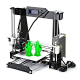 Poncherish A8 3D Drucker DIY Printer Desktop Farbdruck Printer Acryl LCD Bildschirm Kit Drucken Materialien 220x220x240 mm Druckraum 3D Drucker Printer with 1.75mm ABS/PLA