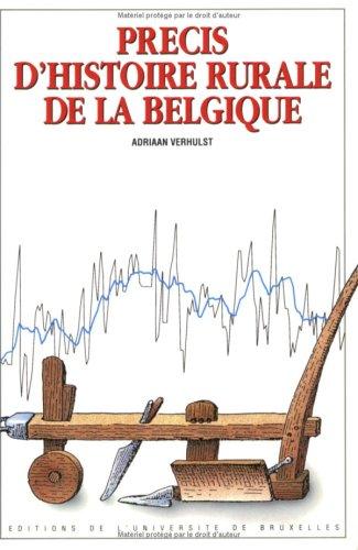 Précis d'histoire rurale de la Belgique par Verhulst