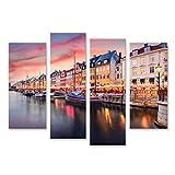 Bild Bilder auf Leinwand Kopenhagen, Dänemark am