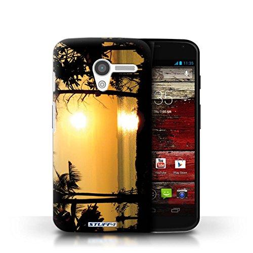 Kobalt® Imprimé Etui / Coque pour Motorola MOTO X / palmiers conception / Série Coucher du Soleil arbres tropicaux
