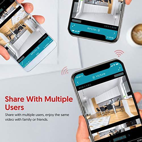 Victure 1080P Dual Band 2.4G 5G Cámara IP WiFi, Cámara de Vigilancia FHD con Visión Nocturna, Cámara de Mascota, Detección de Movimiento, Audio de 2 Vías,  2.4GHz WiFi,  Compatible con iOS/Android