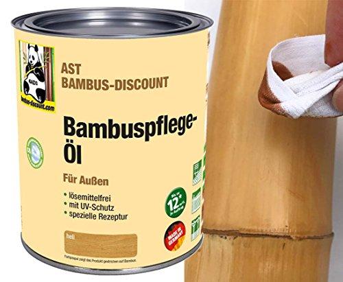 Preisvergleich Produktbild AST Bambus Pflegeöl W Hellbraun für außen - Bambuspflege Öl - 0,75 Liter