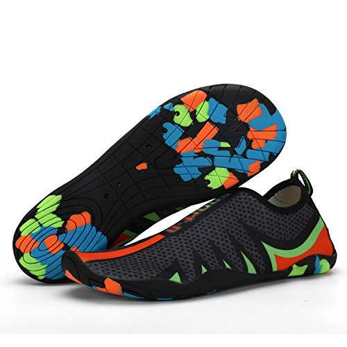 Exing Surf Aqua Schuhe Unisex Strand Schwimmen Wasser Schuhe Neoprenanzug Schuhe Schwimmen Walking Yoga See Beach Garden Park Fahren Bootfahren (Color : D, Größe : 37)
