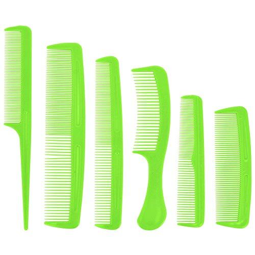 Promobo -Lot de 6 Peignes à cheveux Coiffure Brushing Vert