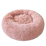 Cuccia per gatti di sonno profondo Peluche Cuccia Cucciolata di gatto Autunno e inverno Nido per animali domestici Tappetino per gatti Moda professionale - Rosa - L
