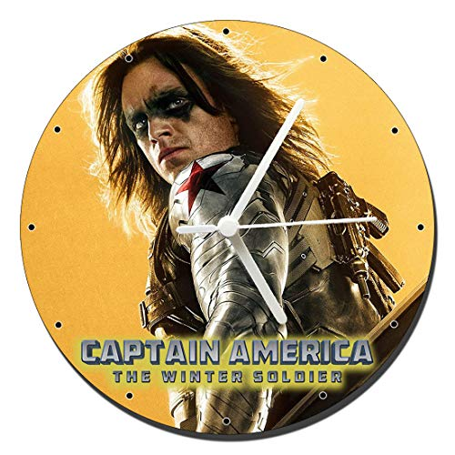 MasTazas Captain America The Winter Soldier Bucky Barnes Sebastian Stan Wanduhren Wall Clock 20cm