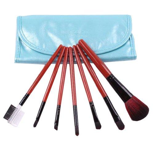 Ensemble de 7 professionnel pinceau maquillage / joli pinceaux, bleu