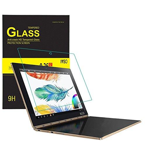 Lenovo Yoga Book Bildschirmschutz, IVSO Hohe Qualität Glas Explosionsgeschützte Bildschirm Schutz Folie -mit ultra-Stärke, ultra-klare Transparenz für Lenovo Yoga Book 25,65cm (10,1 Zoll Full HD) 2-in-1 Tablet (Crystal Glas)