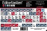 Apple Logic 6 - 9 & X Tastatur Aufkleber Sticker mit Shortcuts (Befehle / Kürzel) auf deutsch - advanced