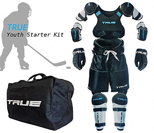 True Eishockey Starter Set M16 Youth Bambini 6-teilig für Kinder 4 bis 9 Jahren Größe L