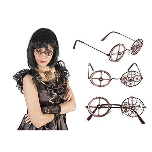 Gafas redondas bronce Steampunk