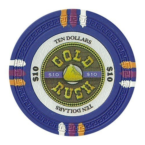 claysmith Gaming $10Clay Composite 13,5Gram Gold Rush Poker Chips-Sleeve of 25by claysmith Gaming -