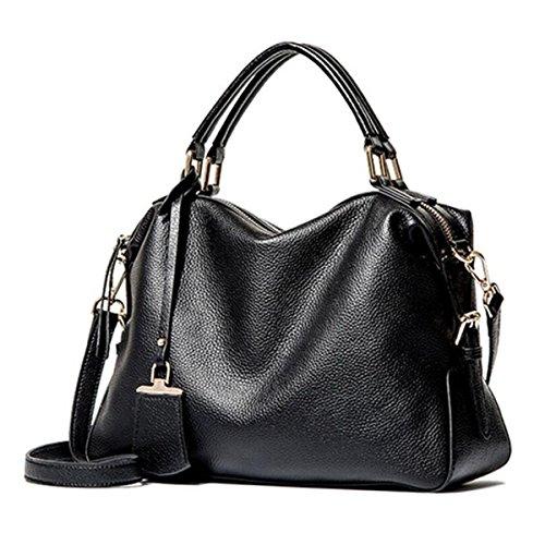 Borsa Della Borsa Del Messaggero Della Spalla Delle Borse Di WU ZHI Ms. PU Boston Handbags Black