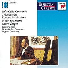 Lalo : Cello Concerto / Tchaikovski : Rococo Variations / Bloch : Schelomo / Fauré : Elégie